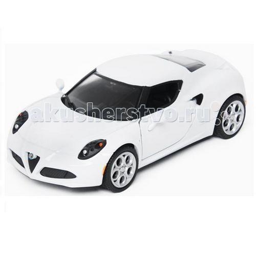 MotorMax Машинка коллекционная 1:24 Alfa Romeo 4CМашинка коллекционная 1:24 Alfa Romeo 4CMotorMax Машинка коллекционная 1:24 Alfa Romeo 4C - способна порадовать коллекционеров, потому что сделана с особым вниманием к мельчайшим деталям.   Быстрый автомобиль, выпущенный в 2013 году, совершенно новый, выглядит ярко и реалистично в стильной упаковке. Копия Альфа Ромео выпущена по фирменной лицензии компании и обязательно понравится юным гонщикам, ведь внутрь легко поместится «пассажир», а водитель может поворачивать руль и наблюдать, как реагируют на повороты передние колеса. В багажник можно сложить какие-то вещи, а открывающийся капот сделает игру в поломку натуральной, ведь можно разглядеть элементы двигателя!   Салон игрушечной машинки идентичен настоящему автомобилю, поэтому иметь данный экземпляр в коллекции — истинное наслаждение. Автомобиль отлит из металла и содержит пластиковые детали.   Motormax, базирующийся в Гонконге, — известный бренд, игрушки которого действительно не стыдно иметь в личной коллекции.<br>