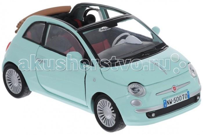 MotorMax Машинка коллекционная 1:24 Fiat Nuova 500 CabrioМашинка коллекционная 1:24 Fiat Nuova 500 CabrioMotorMax Машинка коллекционная 1:24 Fiat Nuova 500 Cabrio - представлена в масштабе 1:24 и максимально соответствует настоящему автомобилю как внешне, так и внутренне: у игрушки открывающиеся двери, капот и багажник, а передние колеса поворачиваются вбок. Шины легко катаются по плоской поверхности и сделаны из натуральной резины. Интерьер внутри салона воссоздан со 100% точностью.   Сделанная из литого металла по технологии Die-Cast, маленькая копия автомобиля Fiat Nuova 500 Cabrio понравится как ребенку, так и взрослому коллекционеру. Motormax — бренд из Гонконга, который известен пристальным вниманием к деталям, поэтому играть с маленьким экземпляром суперкара — невероятное удовольствие. Игрушечная машина выглядит стильно, реалистично и будоражит кровь!   Игра с машинкой развивает мелкую моторику и воображение, приносит настоящее удовольствие. Пожалуй, это лучший выбор для юного водителя.<br>