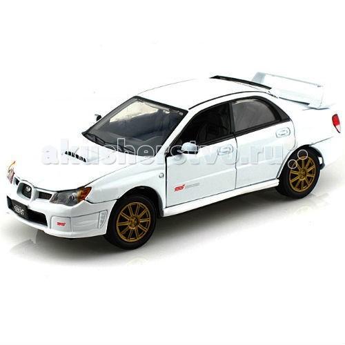 MotorMax Машинка коллекционная 1:24 Subaru Impreza WRX STIМашинка коллекционная 1:24 Subaru Impreza WRX STIMotorMax Машинка коллекционная 1:24 Subaru Impreza WRX STI - украсит коллекцию игрушечных машин и станет желанным подарком для юного гонщика.   Насладитесь утонченный дизайном, схожим с реальной моделью автомобиля: дизайнеры гонконгского бренда Motormax постарались на славу и воспроизвели все детали с особенной реалистичностью и достоверностью. Корпус машины отлит из металла, отдельные элементы сделаны из высококачественного пластика, а резиновые шины на колесах позволят автомобилю плавно и аккуратно катиться по ровной поверхности. Если повернуть руль, то передние колеса повернуться вслед за ним.   У надежной Субару открываются двери и багажник, а если заглянуть под капот, то можно увидеть мотор, настолько подробно создана эта модель.   Игра с машинкой развивает мелкую моторику малыша. Модель Subaru Impreza станет венцом вашей личной коллекции.   Motormax, базирующийся в Гонконге, — известный бренд, игрушки которого действительно не стыдно иметь в личной коллекции.<br>