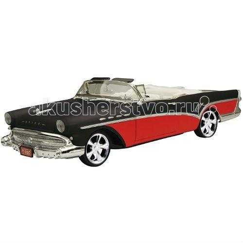 MotorMax Машинка коллекционная Custom Classics 1:18 1957 Buick RoadmasterМашинка коллекционная Custom Classics 1:18 1957 Buick RoadmasterMotorMax Машинка коллекционная Custom Classics 1:18 1957 Buick Roadmaster - управлять и стать владельцем Buick Roadmaster теперь вполне реально, ведь можно приобрести уникальную реалистичную модель автомобиля от бренда Motormax.   В яркой подарочной упаковке вы обнаружите сделанный из литого металла удлиненный Бьюик 1957 года с резиновыми колесами, которые плавно катятся по ровной поверхности.   Юным водителям непременно понравится представлять себя за рулем автомобиля, отделанного хромом, у которого открываются дверцы, поворачивается руль, а колеса крутятся совсем как у настоящего! Шикарный дизайн салона точь-в-точь такой же, как у оригинального автомобиля.   В масштабе 1:18  Motormax, базирующийся в Гонконге, — известный бренд, игрушки которого действительно не стыдно иметь в личной коллекции.<br>