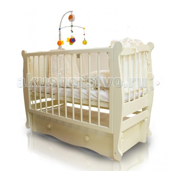 Детская кроватка Можгинский лесокомбинат Алиса (продольный маятник)
