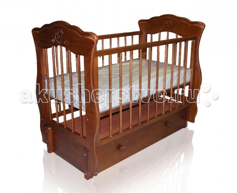 Детская кроватка Можгинский лесокомбинат Елизавета (продольный маятник)