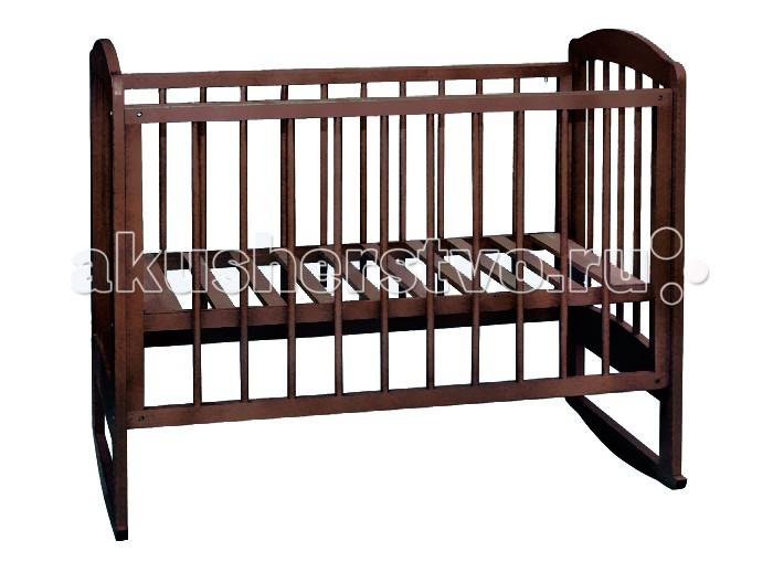 Детская кроватка Можгинский лесокомбинат Катя (качалка)Катя (качалка)Детская кроватка Можгинский лесокомбинат Катя отлично впишется в интерьер любой детской комнаты благодаря широкой цветовой гамме.  Особенности:  размер матраса: 120&#215;60 см; Трехуровневое ложе и опускающееся ограждение со скрытым механизмом гарантируют безопасность в использовании.  Передняя подвижная стенка также имеет три уровня опускания.  Для удобства мам в конструкции кроватки «Катя» реализованы два варианта опоры: шаровая и брусок качания.  Шаровая опора — залог легкого обслуживания мебели — позволяет беспрепятственно перемещать кроватку по комнате, а дугообразный брусок создает маятниковое качание кроватки.  При желании можно снять ограждение кроватки, тогда малыш будет ложиться в кроватку самостоятельно. сертификат экологической безопасности<br>