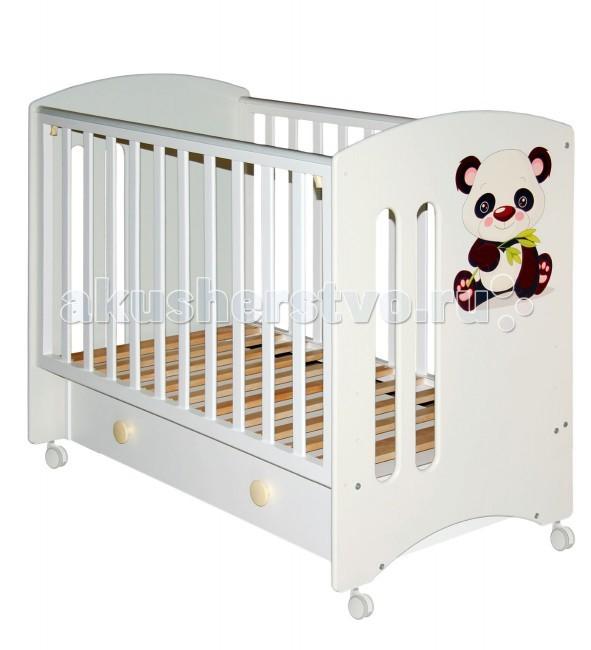 Детская кроватка Можгинский лесокомбинат Laluca Софи Кроха панда с ящиком