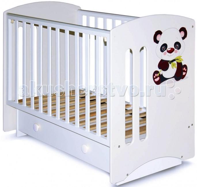 Детская кроватка Можгинский лесокомбинат Laluca Софи Кроха панда (поперечный маятник)