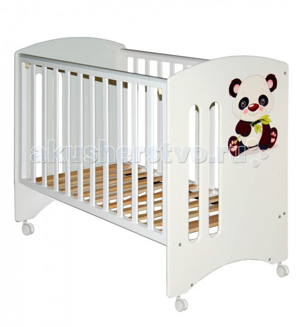 Детская кроватка Можгинский лесокомбинат Laluca Софи Кроха панда без ящика