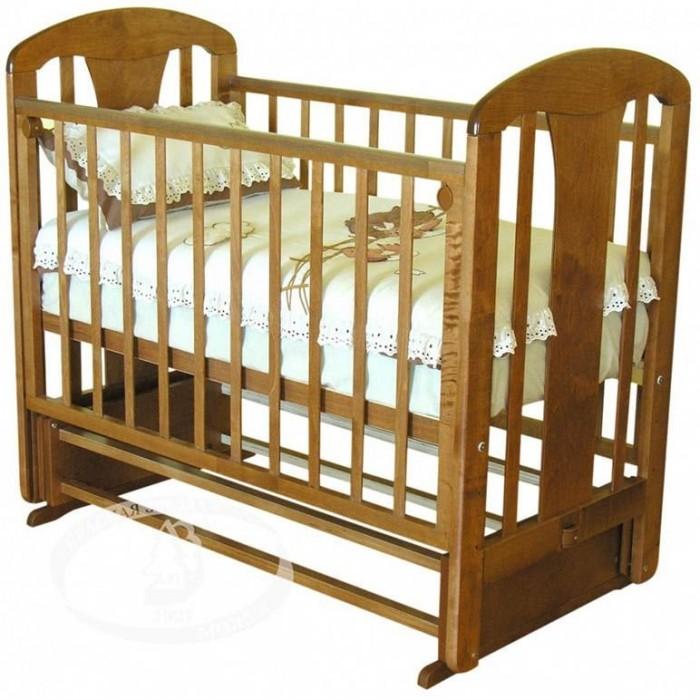 Детская кроватка Можга (Красная Звезда) Виталина С-851 (маятник поперечный) аппликация Жираф