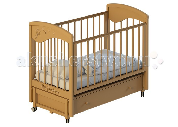 Детская кроватка Mr Sandman (маятник продольный) с ящиком