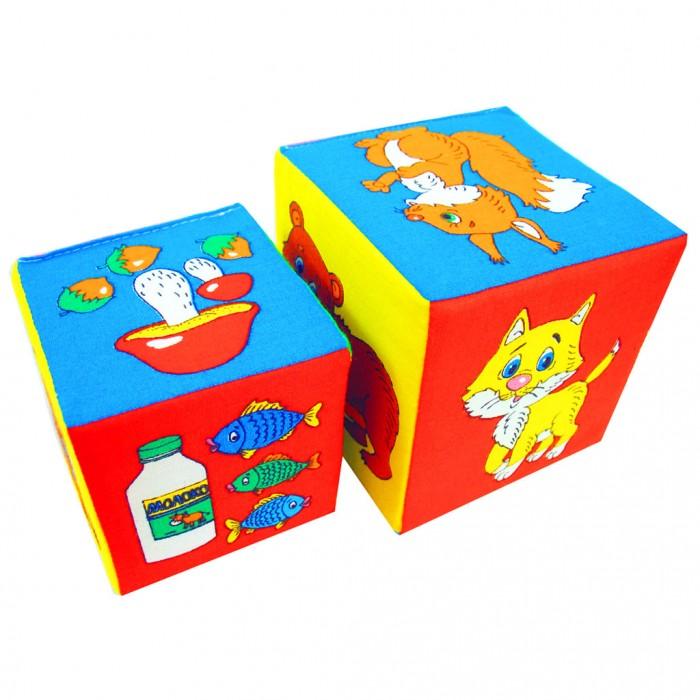 Развивающая игрушка Мякиши Кубики 2 шт.Кубики 2 шт.Развивающая игрушка Мякиши Кубики — это самые первые кубики малыша, которые познакомят малыша с простыми предметами.  Особенности: Развивает сенсорное восприятие и мелкую моторику. Изготовлено из гипоаллергенных материалов  При поставке цветовые решения игрушек могут отличаться от выложенных на сайте  Размеры:  Большой кубик: 10 х 10 см Маленький кубик: 8 х 8 см<br>