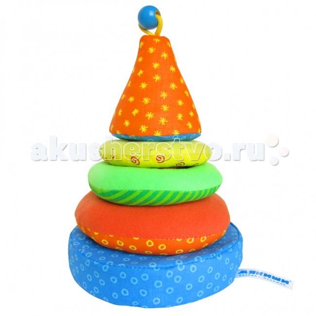 Развивающая игрушка Мякиши ПирамидкаПирамидкаРазвивающая игрушка Мякиши Пирамидка - это дна из первых игрушек ребёнка, которая никогда не утратит значения для его развития.   Особенности: Пирамидка безопасна и чрезвычайно приятна на ощупь, поскольку сшита с использованием натуральных гипоаллергенных материалов  Она обязательно вызовет живой интерес малыша Эта игрушка помогает концентрировать внимание, развивать пространственное мышление, тактильное, слуховое и зрительное восприятие, координацию движений и моторику пальчиков  При поставке цветовые решения игрушек могут отличаться от выложенных на сайте!  Размеры: d 16 см<br>