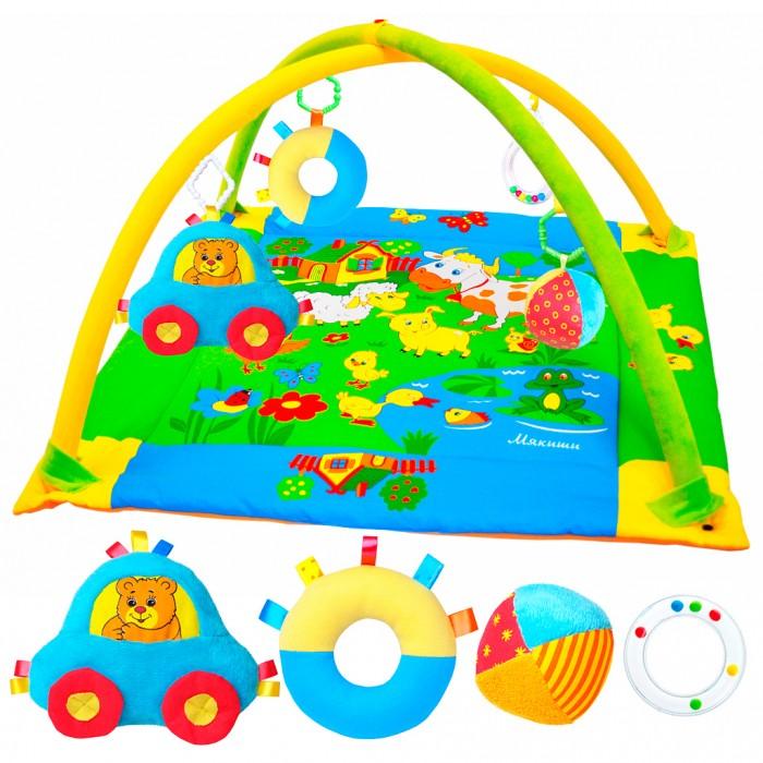 Развивающий коврик Мякиши с дугами Лужайкас дугами ЛужайкаРазвивающий коврик Мякиши Мишка - это сенсорный тренажёр для ориентировки малыша в пространстве, насыщенный цветами, изображениями и объёмными формами.   Особенности: Это чудесный мир персонажей, эмоционально близких маленькому ребёнку Большой размер коврика идеален для рассматривания изображений лёжа на спинке и на животике Арочный эффект дуг помогает расслабиться крохе, обеспечивая визуально безопасное пространство, напоминающее о пребывании в уютном мамином животике Коврик Лужайка с лёгкостью поможет малышу в развитии самых важных навыков в первые месяцы жизни<br>