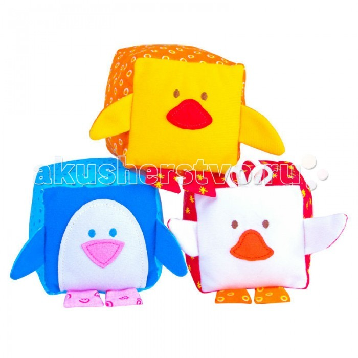 Развивающая игрушка Мякиши Зоо Птицы 3 шт.Зоо Птицы 3 шт.Развивающая игрушка Мякиши Кубики Зоо Птицы подарят вашему малышу много чудесных моментов живого общения с безопасной, понятной ему игрушкой, а также внесут ценный вклад в общее развитие крохи.  Особенности: Разнофактурные, красочные, мелодичные, эти игрушки как нельзя лучше подходят для предметной деятельности ребёнка. Кубик – одна из основных игрушек малышей раннего возраста. Наряду с использованием кубиков в качестве строительного материала, они знакомят ребёнка с формой, цветом Мягкий кубик безопасен и значительно расширяет возможности игры, побуждая ребёнка к активным действиям: такой кубик можно сжимать, мять, кидать. Мягкие кубики с воплощёнными в них образами птичек – это уже целый комплекс Сенсорное развитие, стимулирование органов чувств (развитие мелкой моторики, концентрация внимания, слуховое, тактильное, зрительное развитие, координация движений) Развитие у детей памяти, воображения Формирование представлений о внешних свойствах предмета Формирование у малышей мышления и опыта в установлении причинно-следственных связей: «звенит, когда трясу», «шуршит, когда сжимаю» Первичное ознакомление с образами окружающего мира (животные) - формирование навыков конструирования (выстраивание из кубиков башенки, пирамиды) Формирование элементарных математических представлений (категории «много», «мало», «один», обучение счету, опыт сравнительных действий, ознакомление с пространственными отношениями) Обогащение и активизация словарного запаса  Размер кубика: 8 х 8 см<br>
