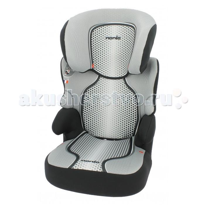 Автокресло Nania Befix SP FSTBefix SP FSTБлагодаря возможности изменения высоты спинки, детское сидение Nania Befix SP будет использоваться длительное время. Оно подойдет для детей в возрасте от трёх до двенадцати лет, по весу - примерно от 15 до 36 килограмм.   Конструкция кресла обеспечивает идеально правильное положение автомобильного ремня на теле ребёнка. Усиленная боковая защита SP – Side Protection убережёт ребёнка от серьезный травм во время бокового столкновения. Кресло прошло все необходимые испытания и получило европейский сертификат безопасности ECE R44/04. Вы легко закрепите его в салоне вашего автомобиля с помощью штатных ремней безопасности.   В автокресле Nania Befix SP очень комфортно путешествовать - оно имеет анатомическую спинку и мягкую подкладку. В этой модели предусмотрена даже регулировка спинки в двух разных положениях для отдыха маленького пассажира. А когда малыш подрастёт, вы легко снимите спинку и будете использовать кресло в качестве бустера. При изготовлении кресла были использованы самые качественный материалы из натуральных волокон. Кресло очень легко содержать в чистоте, все тканые части можно снять и выстирать. А большой выбор расцветок позволит подобрать кресло, которое только украсит салон вашего автомобиля.  модель состоит из двух частей: съемная спинка и сидение-бустер подголовник кресла регулируется в шести разных положениях по высоте тканевые чехлы можно снять для чистки или стирки  Внимание! Установка на переднем пассажирском сиденье возможна только при отключенной подушке безопасности.<br>
