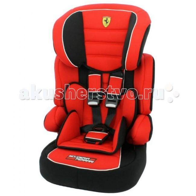 Автокресло Nania Beline Sp FerrariBeline Sp FerrariДетское автомобильное сиденье Nania Beline Sp Ferrari предназначено для детей с 9 месяцев до 12 лет (9-36 кг).  Суперсовременный дизайн, стильная красная обивка и логотип «Феррари» превратят рядовую поездку в увлекательное путешествие. Подголовник регулируется по высоте (6 позиций). «Ушки» подголовника обеспечивают необходимую защиту и не закрывают обзор. Вместительное упругое сиденье делает комфортной любую поездку.  Тканевые фрагменты обивки можно стирать при комнатной температуре, пластиковые – мыть мягким моющим средством. Сбоку кресла находится удобный кармашек для детских принадлежностей.  Ударопрочный корпус автокресла Nania Beline Sp Ferrari оснащен усиленной защитой головы и плечевого пояса ребенка. Малыш до 4-х лет пристегивается внутренними 5-точечными ремнями безопасности с мягкими плечевыми накладками. Специальный фиксатор лямок ремня прикреплен шнурком к спинке автокресла. Дети постарше пристегиваются штатными автомобильными ремнями. Высокие подлокотники обеспечивают дополнительную боковую защиту.  Детское сиденье соответствует европейскому стандарту безопасности ECE-R 44/03.  Автокресло Beline Sp Ferrari устанавливается только по ходу движения машины и крепится автомобильными ремнями, которые проходят по специальным пластиковым направляющим. Кресло состоит из двух частей: сиденья и откручивающейся спинки. Бустер используется для перевозки детей старше 6 лет.   Характеристики: Возраст: от 9 мес до 12 лет Способ Установки: штатный трехточечный ремень Тип внутренних ремней: 5-точечные Регулировка высоты внутренних ремней Регулировка высоты подголовника Подстаканник Вес изделия: 5кг Габариты (гхшхв ): 48х45х60 см<br>