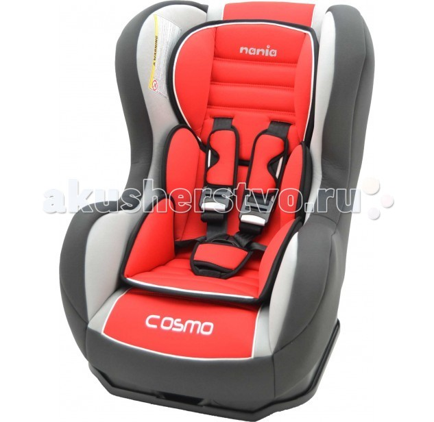 Автокресло Nania Cosmo SP LX (Luxe)Cosmo SP LX (Luxe)Яркое стильное детское автокресло Nania Cosmo SP Luxe от французского производителя изготовлено исключительно в соответствии с последними строгими нормами европейских стандартов безопасности и качества, что надежно защищает вашего малыша на период путешествий. Рассчитано на малышей с рождения, весом до 18 кг. Удобное и комфортное кресло устанавливается в Вашем автомобиле против хода движения при весе ребенка от 0 до 10, при весе ребенка от 10 до 18 кг - по ходу движения.  Характеристики: 5-точечные ремни безопасности с 3-мя уровнями регулировки по высоте и мягкими плечевыми накладками крепится в автомобиле с помощью 3-х точечного ремня безопасности против движения автомобиля прочный каркас анатомической формы из полипропилена поглощающая силу удара прослойка из полистирола 3 положения наклона спинки позволяют ребенку комфортно чувствовать себя во время длительных поездок обивка легко снимается, возможна стирка при 30С SP (side protection) - улучшенная боковая защита cоответствует стандарту безопасности ЕСЕ R44/04.  Внешние размеры: 54х45х61 см; сидение: 31х31 см; спинка: 55 см<br>