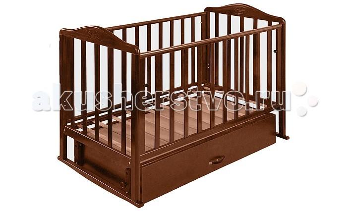 Детская кроватка Наша Мама Джулия (маятник поперечный) с ящиком