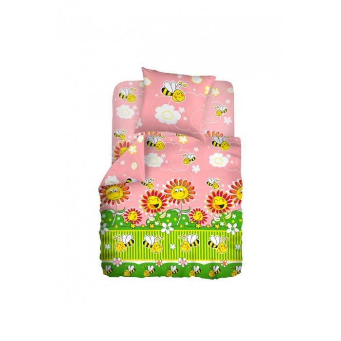 Постельное белье Непоседа Кошки-мышки Пчелки (3 предмета)Кошки-мышки Пчелки (3 предмета)Постельное белье Кошки-мышки Пчелки (3 предмета) несомненно порадует малыша!  Комплект постельного белья изготовлен из бязи, плотностью 115-120 г/м2 (100% хлопок), с использованием нелиняющих натуральных красителей. Бязь – это плотная хлопчатобумажная ткань полотняного переплетения. Она прочная и износоустойчивая, легко стирается и гладится, обладает отличной воздухонепроницаемостью.  Рекомендации по уходу: Постельное белье следует стирать при температуре 40 градусов; Наволочки и пододеяльники следует стирать вывернутыми на изнаночную сторону; Отжим в режиме 600 об/мин.; Гладить при низкой и средней температуре; Не использовать отбеливатели.  В комплекте: Пододеяльник 112&#215;147 см — 1 шт. Простынь 110&#215;150 см — 1 шт. Наволочка 40x60 см — 1 шт.<br>