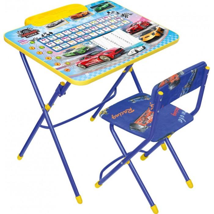 Ника Набор мебели (стол-парта+мягкий стул)Набор мебели (стол-парта+мягкий стул)Набор детской мебели Ника предназначен для детей возраста от 3 до 7 лет. Это безопасная, удобная мебель, которая компактно складывается и экономит пространство Вашей квартиры. Углы стола и стула мягко закруглены, основу мебели составляет металлический каркас, а форма и габариты соответствуют росту и весу ребенка.   С набором детской мебели Ника Ваш ребенок будет с удовольствием получать новые знания, тренировать полученные навыки и развивать свои творческие способности! Главное в обучении ребенка – это правильный подход в форме игры, поэтому каждый стол – тематический.  В набор входят: стол-парта 58х60х45 см мягкий стул высота до сиденья 35 см, высота со спинкой 57 см, размер сиденья 30х28 см  Материалы: Металл окрашенный, цветная ламинированная ДСП, пластмасса, ткань флок<br>