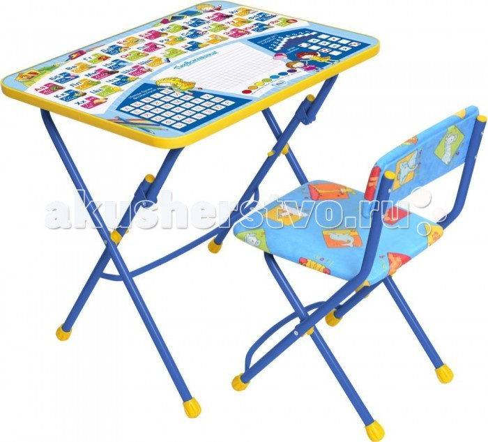 Ника Набор мебели (стол-парта+пластиковый стул) Набор мебели (стол-парта+пластиковый стул) КПУ1