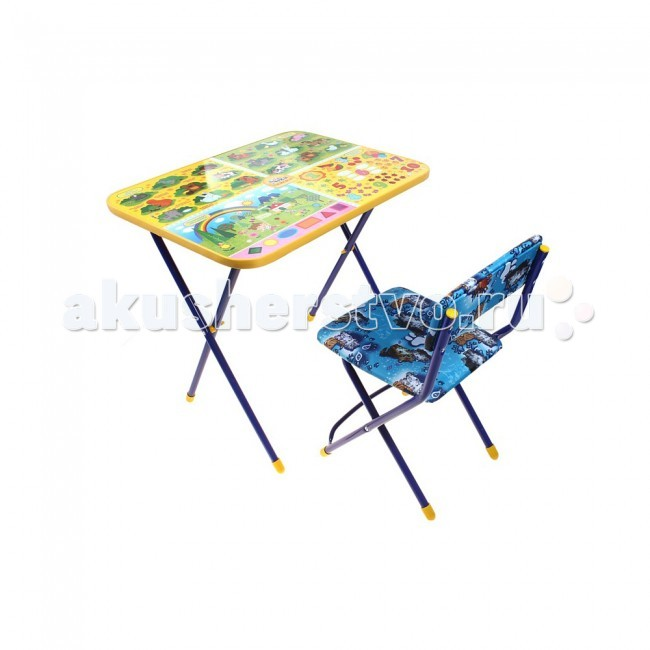 Ника Набор мебели Маша и Медведь (стол+стул клеенка)