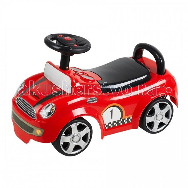 Каталка Ningbo Prince ГонкиГонкиКаталка Ningbo Prince Гонки станет любимой игрушкой Вашего малыша, ее размеры позволяют использовать ее, как на улице, так и в доме.  Характеристики: Каталка имеет устойчивую конструкцию Легкое движение вперед и назад Вместительный багажник под сиденьем На руле кнопка звукового сигнала Колеса с поворотом на 90 градусов  Каталка способствует развитию опорно двигательного аппарата ребенка, укреплению суставов и координации в пространстве.   Размер: 64х31х25 см  Вес: 3.4 кг  Максимальный вес: до 30 кг<br>
