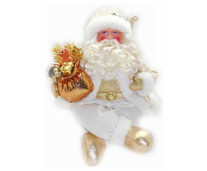Новогодняя сказка Кукла Дед Мороз 43 смКукла Дед Мороз 43 смКукла Дед Мороз в белой шубе с отделкой от компании Новогодняя сказка - это фигурка, без которой практически невозможно представить себе ни один новогодний праздник.   Конечно же, в мешке этот вестник наступающего года несет подарки (правда декоративные), а в руке держит неизменный посох.  Новогодняя композиция подарит радость и положительные эмоции как взрослым, так и детям.  Высота куклы: 43 см.<br>
