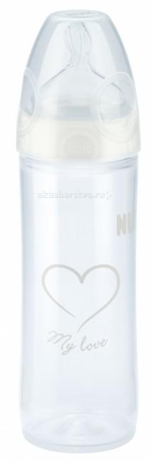 Бутылочка Nuk First Choice New Classic пластик 250 мл силиконовая соска М
