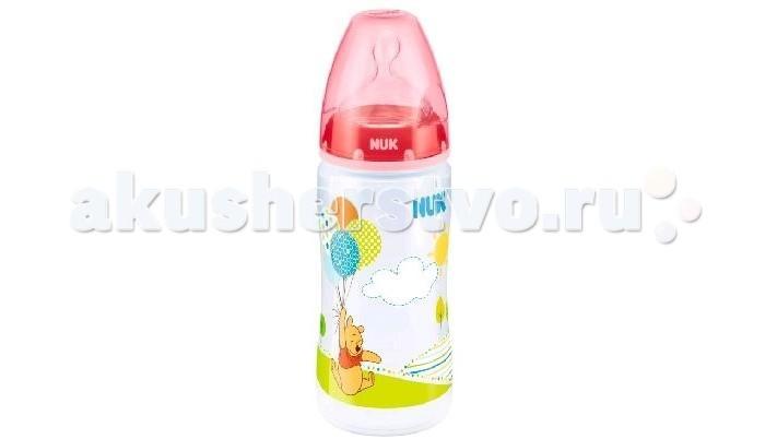 Бутылочка Nuk First Choice Plus Disney с силиконовой соской M с рождения 300 мл (пластик)