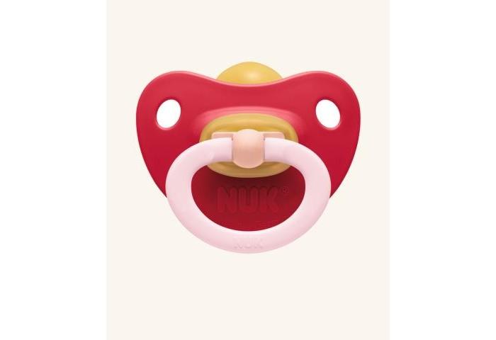 Пустышка Nuk ортодонтическая из латекса Classic Soft, с колечком, размер 2 (6-18 мес.)