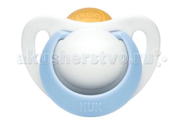 Пустышка Nuk ортодонтическая латексная Genius размер 3 (18-36 мес)