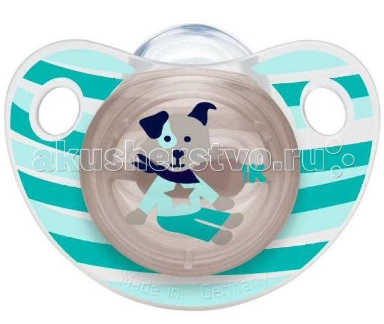Пустышка Nuk силиконовая Trendline Adore, размер 2 (6-18 мес.)силиконовая Trendline Adore, размер 2 (6-18 мес.)Ортодонтическая форма соски-пустышки NUK Trendline Adore обеспечивает формирование правильного прикуса и челюстно-лицевого аппарата в целом.  Как и все соски NUK, они имеют клапанную систему NUK AIR SYSTEM - воздух выходит через специальное отверстие, благодаря чему пустышка остается мягкой и сохраняет свою форму, что предотвращает деформацию полости рта ребенка.  Силикон - прочный гипоаллергенный материал, который не вступает в химическую реакцию со слюной, хорошо стерилизуется, не теряет форму и не впитывает запахи.<br>