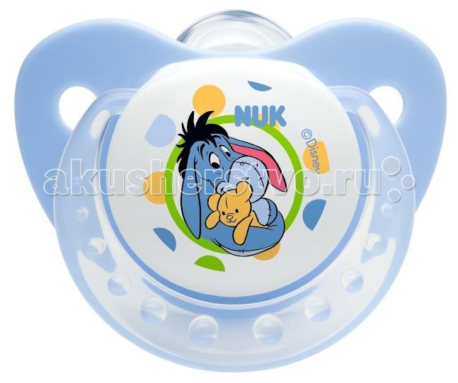 Пустышка Nuk ортодонтическая силиконовая Trendline Disney, размер 1 (0-6 мес.)ортодонтическая силиконовая Trendline Disney, размер 1 (0-6 мес.)Ортодонтическая форма соски-пустышки NUK Trendline обеспечивает формирование правильного прикуса и челюстно-лицевого аппарата в целом , а красочный рисунок понравится Вашему ребенку. Загубник анатомической формы полностью прилегает к лицу ребенка и оснащен специальным вентиляционным отверстием.  Как и все соски NUK, Trendline имеет клапанную систему NUK AIR SYSTEM - воздух выходит через специальное отверстие, благодаря чему пустышка остается мягкой и сохраняет свою форму, что предотвращает деформацию полости рта ребенка.<br>