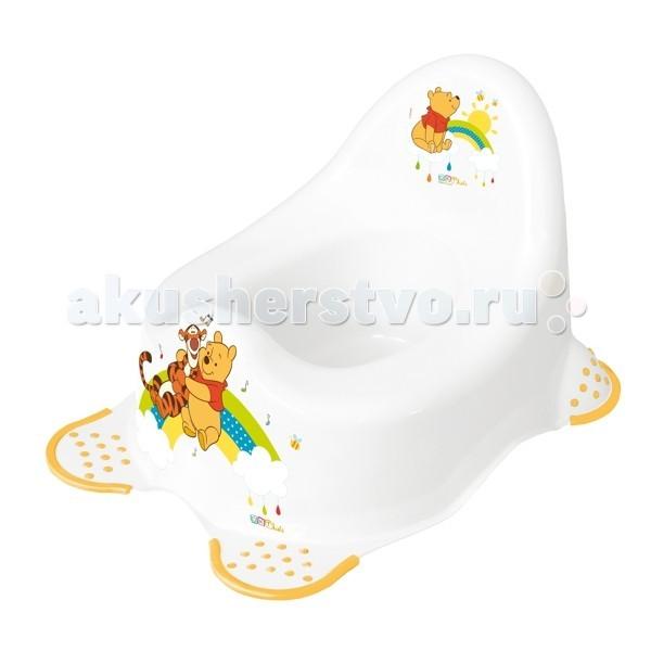 Горшок OKT Disney Винни ПухDisney Винни ПухЭтот яркий горшок имеет обтекаемую форму и устойчивую конструкцию, он гармонично впишется в детский уголок. Маленький непоседа непременно заинтересуется забавными рисунками зверушек на поверхности изделия.  Горшок изготовлен из качественных безопасных материалов. Благодаря ему, ваш малыш скоро научится обходится без подгузников.  Размер, см: 38 x 27 x 24<br>