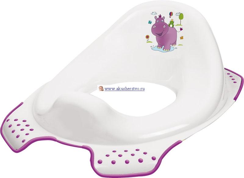 OKT Накладка на унитаз Hippo БегемотикНакладка на унитаз Hippo БегемотикДетское сидение на унитаз — это необходимое приспособление для взрослого туалета. Оно позволит малышу освоить его и самостоятельно решать свои необходимые вопросы. Накладка подходит ко всем стандартным туалетам. Сиденье крепится к унитазу надежно, оно устойчивое, о безопасности крохи можно не беспокоиться. Размер сидения рассчитан так, чтобы ребенку было комфортно сидеть.  Ребенку понравится чувствовать себя взрослым и самостоятельным.  Размер, см: 30 x 40 x 15<br>