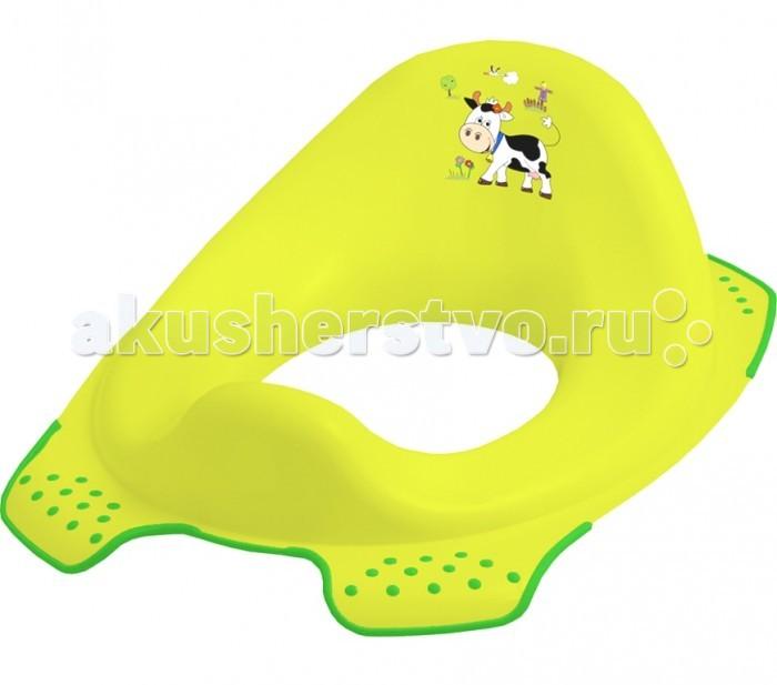 OKT Накладка на унитаз Веселая фермаНакладка на унитаз Веселая фермаДетское сидение на унитаз — это необходимое приспособление для взрослого туалета. Оно позволит малышу освоить его и самостоятельно решать свои необходимые вопросы. Накладка подходит ко всем стандартным туалетам. Сиденье крепится к унитазу надежно, оно устойчивое, о безопасности крохи можно не беспокоиться. Размер сидения рассчитан так, чтобы ребенку было комфортно сидеть.  Ребенку понравится чувствовать себя взрослым и самостоятельным.  Размер, см: 30 x 40 x 15<br>