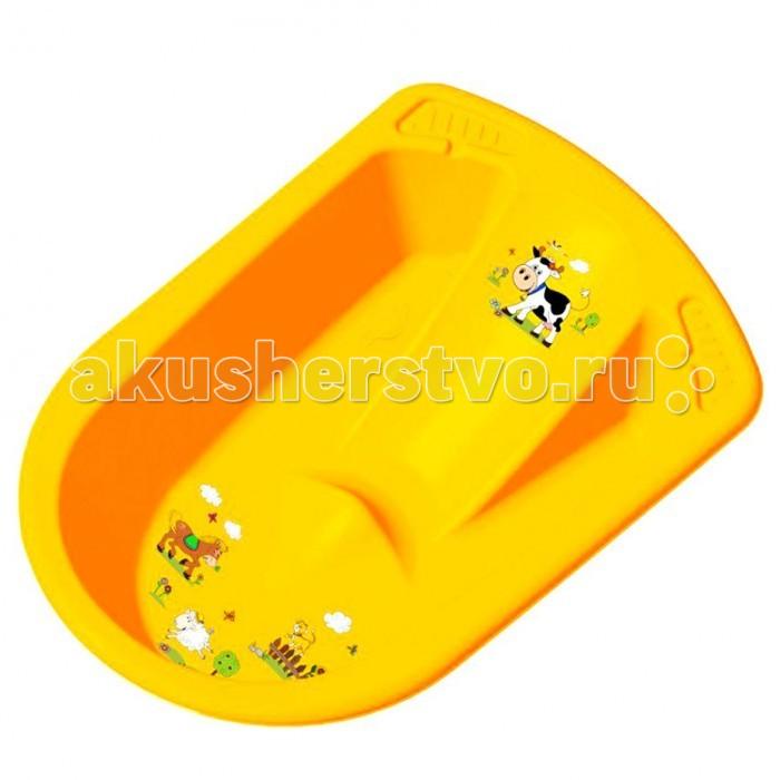OKT ванночка Веселая ферма анатомическаяванночка Веселая ферма анатомическаяВанна OKT Веселая ферма - предназначена для купания детей от 0 месяцев и старше. Яркая, красивая анатомическая ванна непременно привлечет к себе внимание, ведь на ней изображены забавные животные.  Для удобства использования предусмотрены два углубления для банных принадлежностей, а также имеется пробка для удобного слива воды после купания. Ванночка выполнена из высококачественной пластмассы, которая отличается своей прочностью и долговечностью.  Размер: 80 x 54 x 24 см Максимальный рост: 80 см<br>