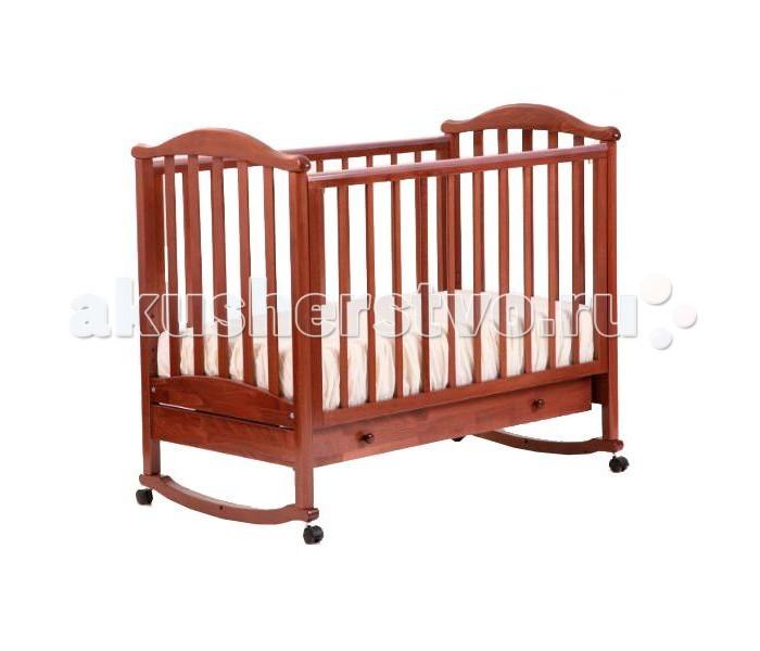 Детская кроватка Кубаньлесстрой АБ 25.1 Виола качалка с ящиком