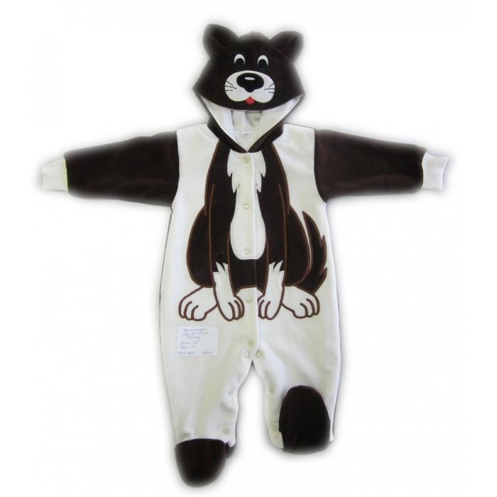 Осьминожка Комбинезон Собака В мире животныхКомбинезон Собака В мире животныхКомбинезон для новорожденных Собака Осьминожка выполнен в коричнево-белой цветовой гамме и имитирует внешний вид собачки, который поднимет настроение не только вам, но и малышу.   Такая одежда станет отличным и просто незаменимым элементом гардероба, который подарит вашему малышу тепло и уют. Имеет удобные застежки-кнопки по всей длине, что облегчит переодевание малыша или смену подгузника.  Капюшон имеет ушки, на передней его части он украшен изображением собачки. На самом комбинезоне, там, где будет находиться тело малыша, от шеи и до начала ножек изделие напоминает тельце собаки. Стопы и рукава выполнены в темной расцветке.   Комбинезон для новорожденных выполнен из абсолютно качественного материала, который не вызывает аллергических реакций и раздражений на коже вашего малыша.   Верхняя часть изделия изготовлена из качественного велюра, который приятен коже, а подкладка сделана из интерлока.  Материал: высококачетсвенный велюр (состав: 80% хлопок, 20% п/э), на подкладке из интрелока (состав: 100% хлопок)  Уход: Ручная стирка при 30 гр.<br>