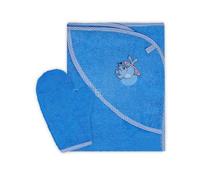 Осьминожка Полотенце-уголок с рукавичкой