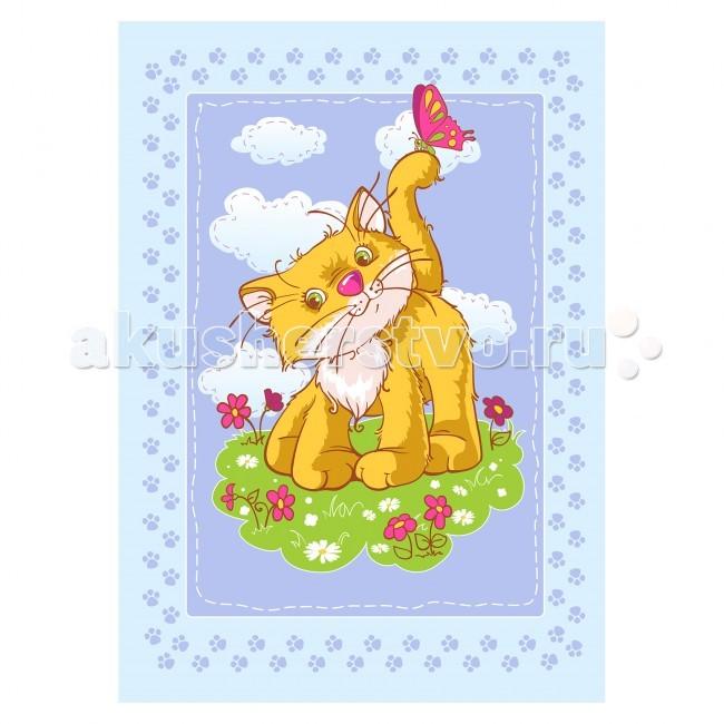 Одеяло Baby Nice (ОТК) байковое Котенок 100х140 см