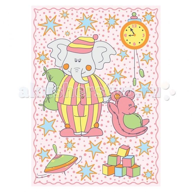 Одеяло Baby Nice (ОТК) байковое Пора спать 100х140 см