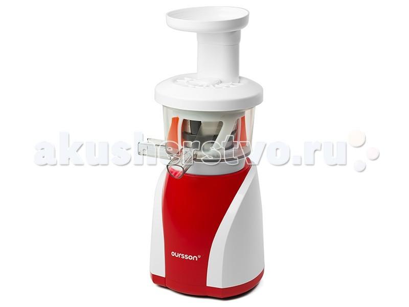 Oursson  Шнековая соковыжималка холодного отжима JM8002Шнековая соковыжималка холодного отжима JM8002Oursson Шнековая соковыжималка холодного отжима JM8002 получает сок и пюре из овощей, фруктов и ягод, а также измельчает в крошку орехи, специи, сухарики и печенье.  Особенности:  Технология холодного отжима наилучшим образом сохраняет витамины и вкус овощей и фруктов.  Уникальный индукционный двигатель обеспечивает наименьший уровень шума при отжиме, превращая процесс приготовления сока в настоящее удовольствие.  Соковыжималка также легко может делать разнообразные джемы, десерты, соусы и пюре для детского питания, а приготовить их Вам поможет книга рецептов, которая прилагается в комплекте. Подходит для всех видов ягод  Подходит для всех видов овощей Подходит для всех видов фруктов  Функция самоочистки  Количество оборотов в минуту: 47 Количество уровней защиты: 5 Обратный ход, реверс  Разлив в стакан  Функция самоочистки  Холодный отжим  Потребляемая мощность: 200 Вт<br>