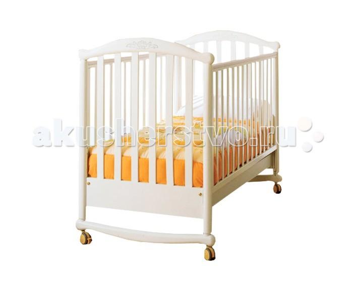 купить в магазине Детская кроватка Pali Deseree (качалка) - Белый.