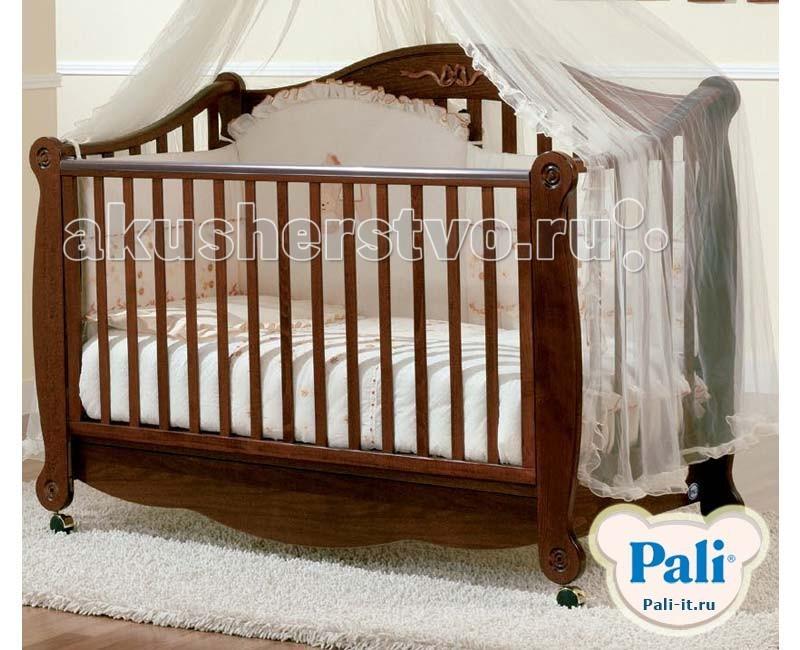 Детская кроватка Pali RigolettoRigolettoДетская кроватка Pali Rigoletto   С лёгкостью станет украшением любого интерьера, обеспечит ребёнку здоровый и крепкий сон и станет незаменимым помощником в ежедневном уходе за младенцем. Самое главное свойство детской кроватки - безопасность.   Материал кроватки - выдержанный бук, твердый и прочный, он не рассыхается и не отсыревает. Краски и лак, которыми покрыта кроватка, нетоксичны и не создают вредных испарений.   Rigoletto - одна из красивейших кроваток фирмы Pali.  Сделана из выдержанного бука.  Передний бортик опускается и снимается в дальнейшем,так что кровать можно использовать как диванчик.  Кровать без качалки, на колесиках, которые также снимаются. От кроватки до диванчика ... простая игра!  Снимите регулируемый бортик  Отвинтите 4 втулки, расположенные на ножках  Установите 4 пластмассовых вкладыша  Разложите комплект подушек!<br>