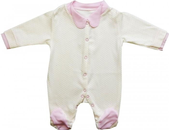 Папитто Комбинезон Горошек 152-02Комбинезон Горошек 152-02Комбинезон с закругленным воротничком для новорожденных сделан из комбинированной кулирки.   Состав изделия — только чистый хлопок. Ребенку будет комфортно в такой одежде, так как материал мягкий, эластичный, при этом хорошо пропускает воздух.   Можно стирать в машинке, изделие не деформируется, сохраняет свою форму долгий период.   «Папитто» гарантирует качество комбинезонов для новорожденных.  Состав 100% хлопок.   Рекомендации по уходу: Ручная, автомат 30 градусов, не отбеливать, без отжима.<br>