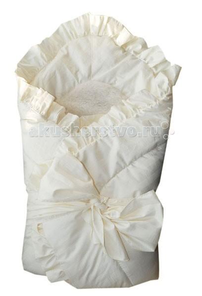 Папитто Конверт-одеяло с завязкой и меховой вставкой
