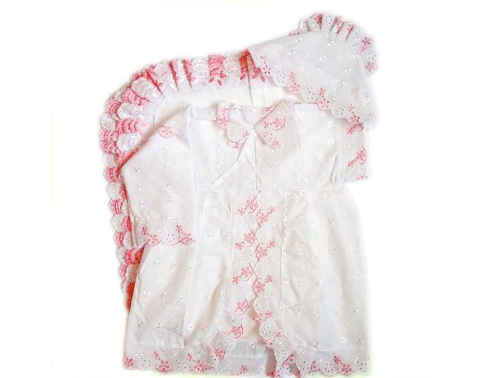 Папитто Крестильный набор для девочки 1310Крестильный набор для девочки 1310Крестильный набор для девочки Папитто   В комплекте:    Рубашечка кружевная  Чепчик шитьевой  Пеленка крестильная кружевная   Размер пеленки: 70 х 70 см Длина рубашки: 45 см Состав: 100% хлопок<br>