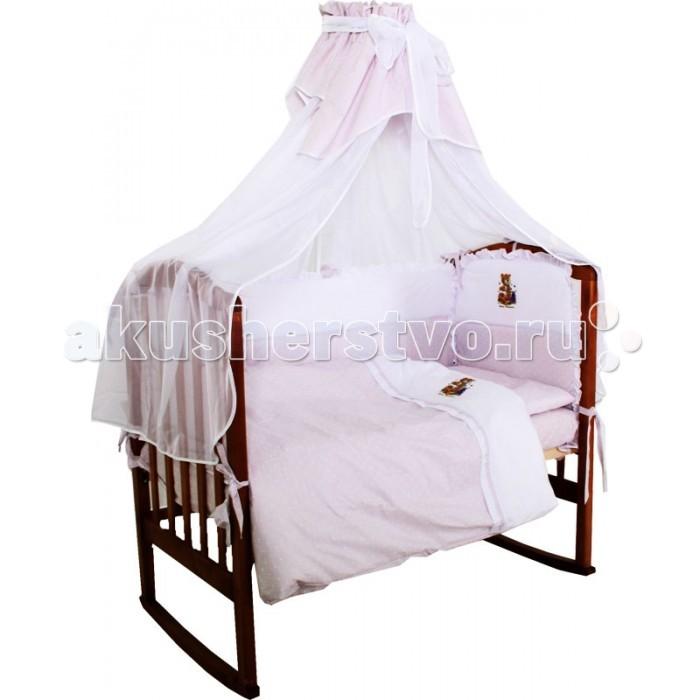 Комплект для кроватки Папитто Папа с аппликацией (7 предметов)