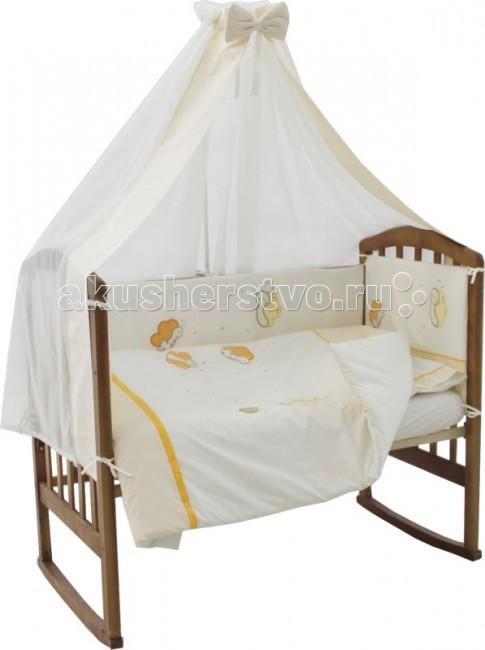 Комплект для кроватки Папитто Пчелка (7 предметов)