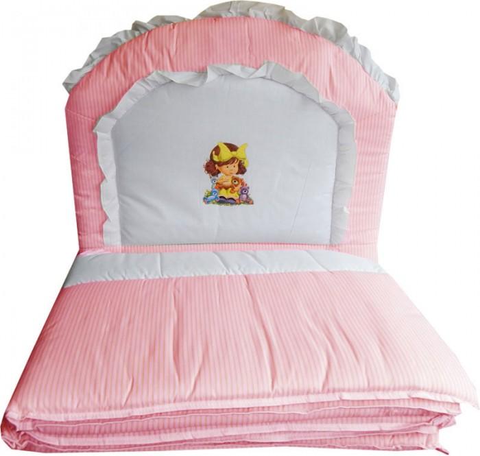 Бампер для кроватки Папитто раздельный комбинированный с аппликациейраздельный комбинированный с аппликациейБампер в кроватку защитит малыша, пока он маленький. И послужит отличным украшением детской кроватки.  Борт раздельный 4-е части, высота 40 см, длина 120 см.  Состав: бязь набивная (хлопок 50%, ПЭ 50%)  Наполнитель: ПЭ<br>